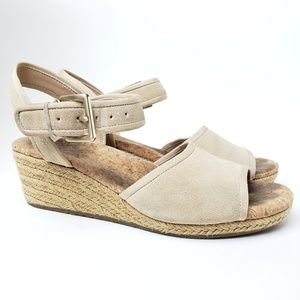 UGG Maybell Tan Espadrille Wedge Sandal